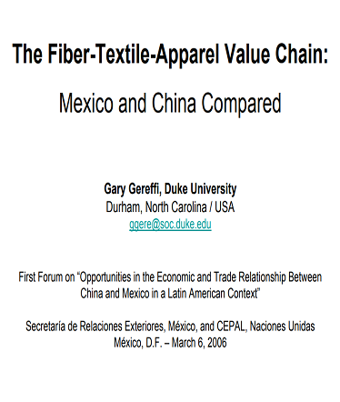 apparel value chain The global apparel value chain, trade and the crisis: challenges and opportunities for developing countries gary gereffi (department of sociology, duke university.